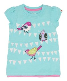 Love this Aqua Bunting Birds Tee - Toddler & Girls by Hatley on #zulily! #zulilyfinds