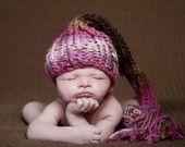 Newborn Elf Hat in Shades of Rust and Brown, Newborn 0-3 Months Boy Girl. $25.00, via Etsy.