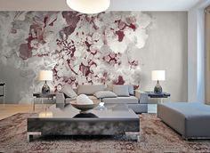 No 1550 Dramatic Wallpaper Wall E, Modern Wallpaper, Work Inspiration, Gin, Interior And Exterior, Art Deco, Lounge, Wall Decor, Graphics