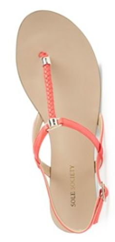 hot #coral thong sandals  http://rstyle.me/n/junmdpdpe