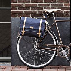 Sacoche latérale Bagage Sac Gris//Marron Clair Homme Femme Sac de vélo Cycle vélo