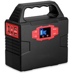 Power Inverters - 100Watt Portable Solar Generator Power Inverter 40800mAh 150Wh Lion Battery Power Supply Charged by SolarAC OutletCars with Dual AC Outlet 3 DC Ports 2 USB Ports -- Click on the image for additional details. (This is an Amazon affiliate link)