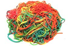 What's for dinner? How about rainbow coloured spaghetti!