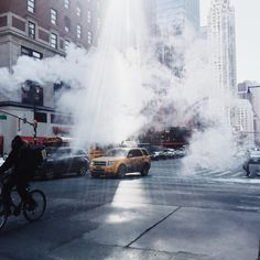 ~ Typical manhole smoke/steam in busy New York City.  If you don't like the F=A=S=T paced life, or have trouble keeping up, then this town is not for you! ~