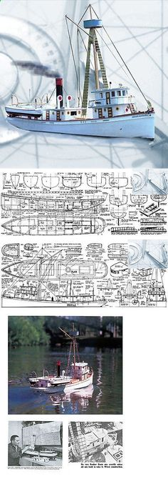 Plans 168246: Model Boat Plans Scale 35 Radio Control Bunker Boat F S Printed Plans And Notes -> BUY IT NOW ONLY: $30.58 on eBay!