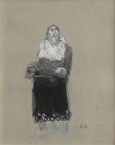 François Anton, Señor, 2014, Oil & Pastel on Paper