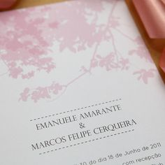 Convite de casamento Acacia
