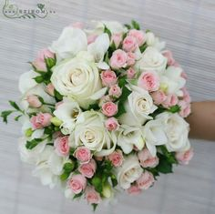admin 23 minutes ago Ramos de novia 1 views White roses with pink spray rose bouquet Check, then Blu Bridal Flowers, Flower Bouquet Wedding, Pink Rose Bouquet, Bride Bouquets, Bridesmaid Bouquet, Wedding Flower Arrangements, Floral Arrangements, Boquette Wedding, Wedding Decor