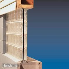 We show you how to install a preassembled glass block windows panel for a basement window. Glass block window replacement is easier than installing a traditional window. Insulating Basement Walls, Framing Basement Walls, Basement Insulation, Damp Basement, Old Basement, Basement Bedrooms, Basement Flooring, Basement Ideas, Basement Finishing
