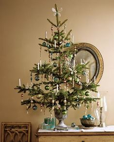 Cute tree decor for a bedroom or small enclave.
