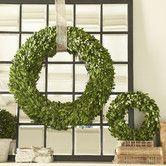 Preserved Boxwood Wreath #birchlane