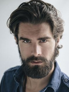 Abram Hodgens - hair, eyebrows and facial hair Handsome Bearded Men, Hairy Men, Cool Haircuts, Haircuts For Men, Men's Haircuts, Men Hairstyles, Moustaches, Hair And Beard Styles, Long Hair Styles