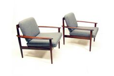 Medium two pj 56 chairs in rosewood by grete jalk