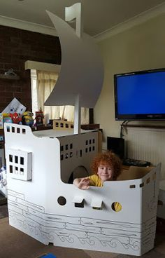 The Brick Castle: Giant (7ft tall!) Recycled Cardboard Wiplii Pirate Ship Review...