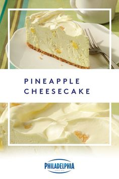 This no-bake pineapple cheesecake recipe combines sweet, fresh pineapple with smooth cream cheese to make for a delicious dessert. Brownie Desserts, Oreo Dessert, 13 Desserts, Delicious Desserts, Dessert Recipes, Yummy Food, Healthy Food, Baked Cheesecake Recipe, Keto Cheesecake