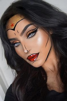 Awesome 71 Inspiring Halloween Makeup Ideas to Makes You Look Creepy but Cute. More at http://aksahinjewelry.com/2017/09/30/71-inspiring-halloween-makeup-ideas-makes-look-creepy-cute/