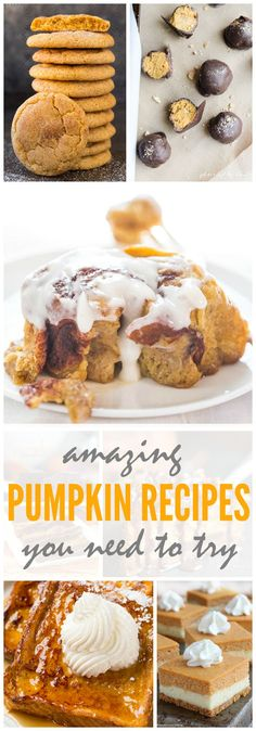 Amazing Fall Pumpkin Recipes that you need to try this season! Warm and cozy with your favorite fall flavors!