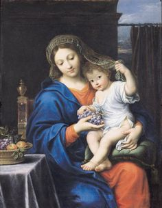 The Virgin of the Grapes Painting  - The Virgin of the Grapes Fine Art Print