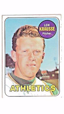 1969 Topps Baseball Card Lew Krausse Oakland Athletics #23
