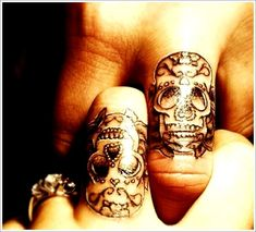 Unique Tattoo Designs For Couples: Skull Tattoo Designs For Couples On Finger ~ Men Tattoos Inspiration