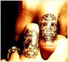 Unique Tattoo Designs For Couples: Skull Tattoo Designs For Couples On Finger ~ Men Tattoos Inspiration