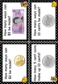Australian Money Task Cards Higher Order Thinking HOTS Gra