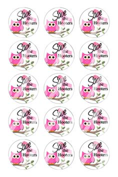 "Breast Cancer Awareness Bottle Cap 1"" Circle Images Sheet #BC1 instant download or pre cut"