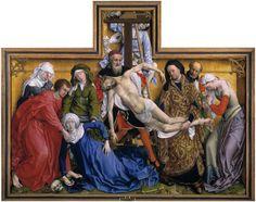 La Descente de la croix, Rogier Van der Weyden, 1435, huile sur bois, 220 x 262 cm, Musée du Prado, Madrid (Espagne)