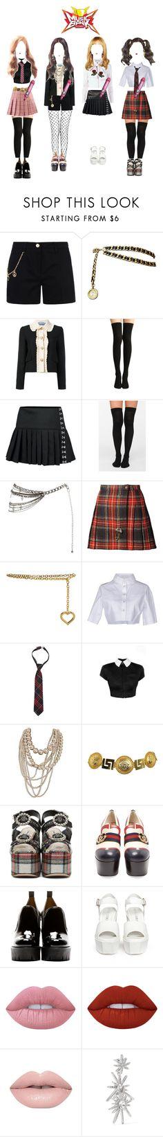 """《Music Bank》BitterSweet {War of Hearts} COMEBACK"" by bittersweet-official ❤ liked on Polyvore featuring Love Moschino, Chanel, Gucci, Yves Saint Laurent, Alessandra Rich, Alexander Wang, French Toast, Versace, Miu Miu and Marc by Marc Jacobs"