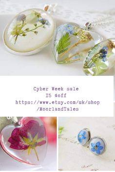 real flowers botanical resin jewellery and accessories by MoorlandTales Resin Jewellery, Leaf Jewelry, Dandelion Paperweight, Hippie House, Etsy Handmade, Handmade Gifts, Magical Jewelry, Gifts For Nature Lovers, Christmas Gifts For Women