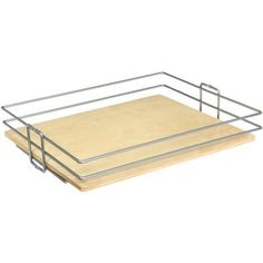 Knape & Vogt - Frosted Nickel Center-Mount Pantry Basket - 17 Inches Wide - BP17CM-FNW - Home Depot Canada