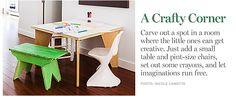 Craft corner for kiddo