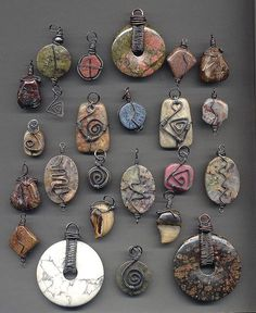 Wire wrapped stones