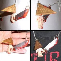 Silent Hill Pyramid Head Necklace Hand sculpted one of by spaztazm, $45.00