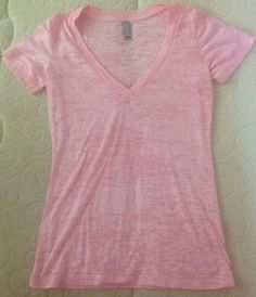 NEW - Womens SMALL Trendy Light Pink Basic BURNOUT Tee Tshirt - Size S #NextLevel #BurnoutTee