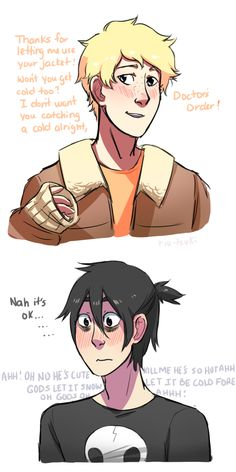 Nico would be horrible at hiding his crush on Will let's face it art © riu-tsuki