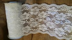 Lace trim fabric top quality 6 inches wide floral scalloped in US. $ 2.25
