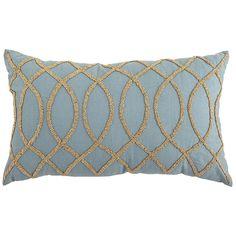 Beaded Oblong Pillow - Mineral