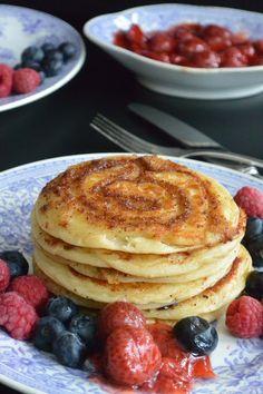Celebration Treats 4U: Kanelikierrepannarit Pancakes, Celebration, Treats, Breakfast, Desserts, Food, Sweet Like Candy, Morning Coffee, Tailgate Desserts
