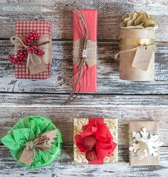 Wrapping Inspirations are waiting for you today here at The Cottage Market! From Sweaters to Pom Poms ...from clothespins to lace...all picture perfect!