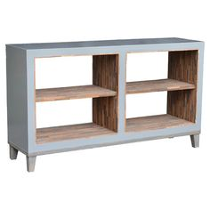 Bookcases aren't just for the library-try using this teak wood piece in the dining room and stock it with bottles to create a chic home bar, or add storage b...