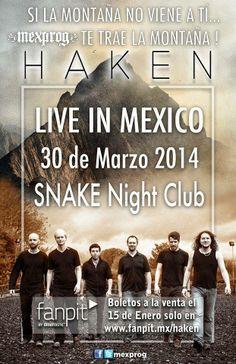 La banda progreesive del 2013 por primera vez en México. 30 de Marzo en el Snake NIght Club