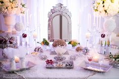 Anna and Spencer Photography, Atlanta wedding photographers. Persian Wedding ceremony display Sofreh-ye Aghd.