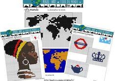 Art Education 629941066605244001 - Pixel Art thème Tour du Monde Source by kathleenesvan Pixel Art, Cycle 3, Sans Art, Afrique Art, Ecole Art, 3 Arts, Art Plastique, Art World, Art School