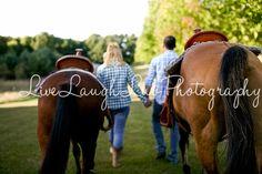 Couples engagement Summer Session. ©LiveLaughLuv Photography www.livelaughluvphotography.com. engagement, farm, country, horses, fields, fences.