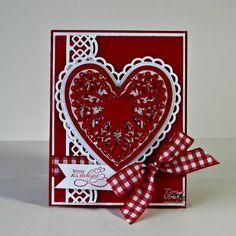 Another beautiful heart card!  Lori Ulrich!