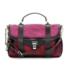 Pink Pin Spot Tweed Shoulder Bag 28