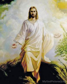 Had a vision of a Jesus on a cliff in white clothes like this and He reached out to me with His Holly hand which shining so bright that wake me up and saw 22:11 pm than opened the pinterest and this was the first pin on the page HOW CRAZYYYYYY IS THAT?!?!? OMG wow wow wow really something special oh so blessed ❤