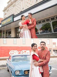 Indian Wedding Cartersville Georgia Coca-Cola Mustang #IndianWedding Garrett Frandsen