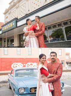 Indian Wedding Cartersville Georgia Coca-Cola Mustang #IndianWedding Garrett Frandsen